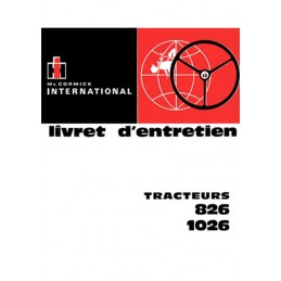 Livret Entretien 826 / 1026
