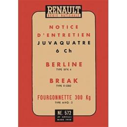 Notice d' Entretien  1950