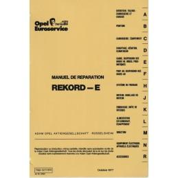 Manuel Reparation Rekord E