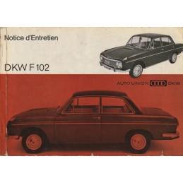 Notice Entretien F 102