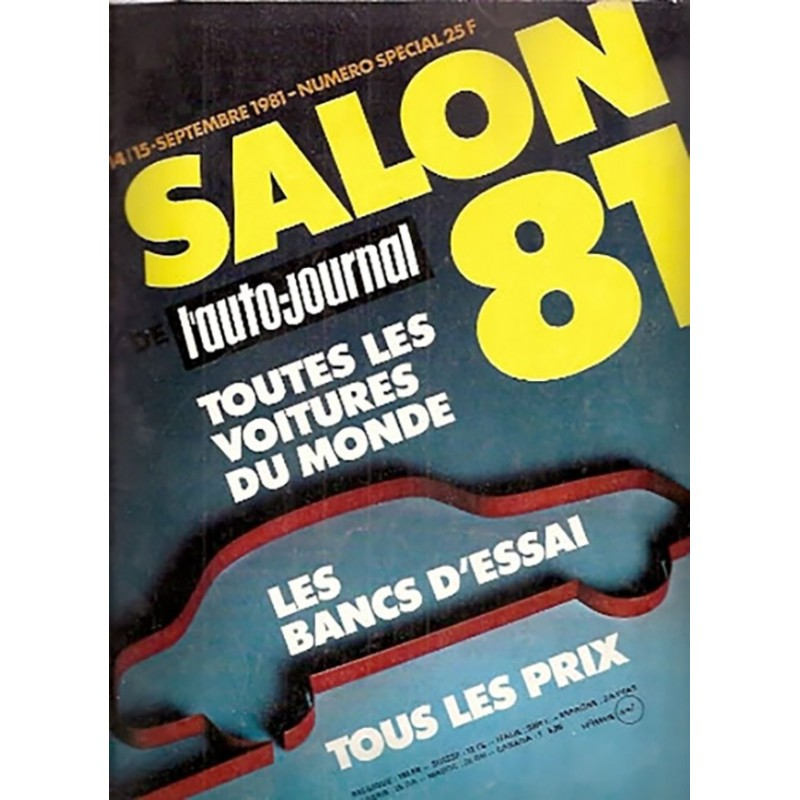 N° Salon Auto Journal 1981