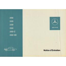 Notice d' Entretien  200 - 250
