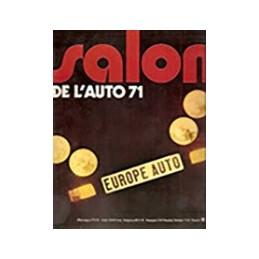 N° Salon Europe Auto 1971