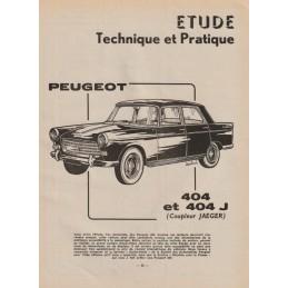Revue Technique 1962 Jaeger