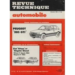 Revue Technique  205 GTi