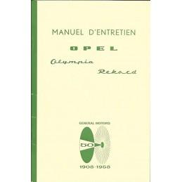 Notice d' Entretien 1958