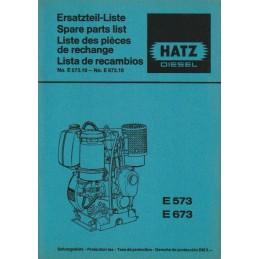 Moteurs HATZ E573/E673