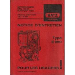 Moteur HATZ E950