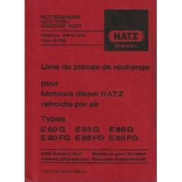 Moteurs HATZ E80/E85/E89