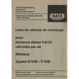 Moteurs HATZ  D108/V108
