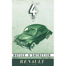 Notice d' Entretien  1957