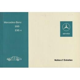 Notice Entretien  200 - 230.4