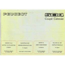 Notice d' Entretien CC  1982