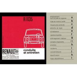 Notice d' Entretien  R 1135