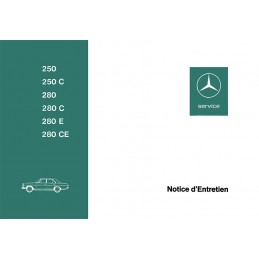 Notice d' Entretien  250 - 280