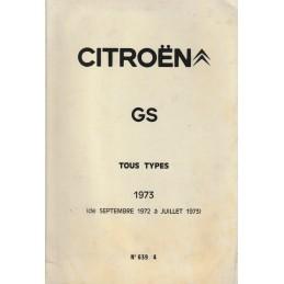 Manuel Technique GS 1973