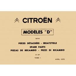 Catalogue de Pieces 1970...