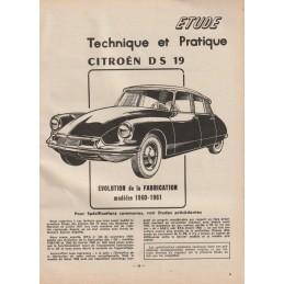 Revue Technique DS 19  1961