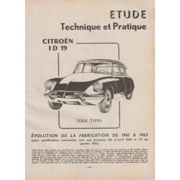 Revue Technique ID 19 1962
