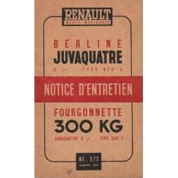 Notice d' Entretien  1947