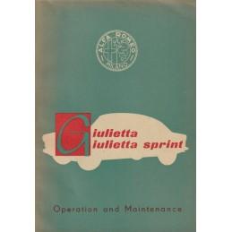 Notice d' Entretien 1956