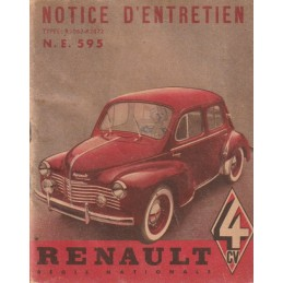 Notice d' Entretien  1950/1951
