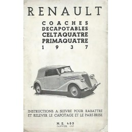Notice d' Entretien 1937