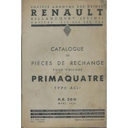 Catalogue de Pieces ACL 1