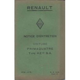 Notice d' Entretien KZ 10 SA