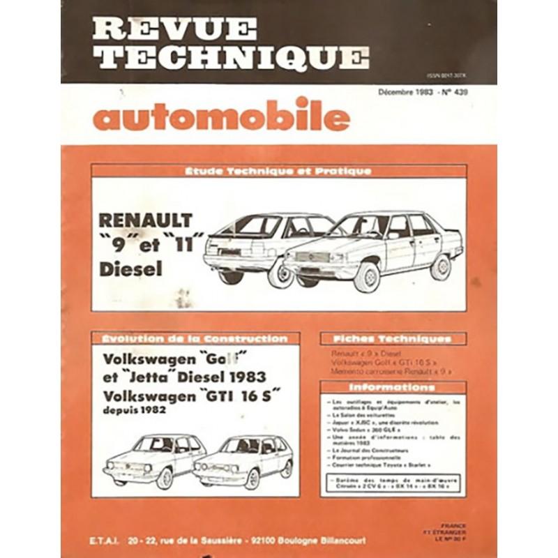 Revue Technique R 9 / R 11 Diesel