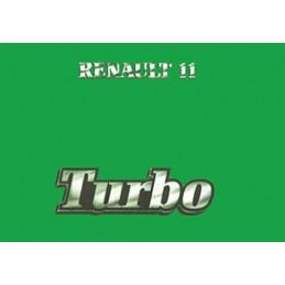 Notice d' Entretien R 11 Turbo