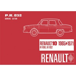 Catalogue de Pieces  R1190/R1192