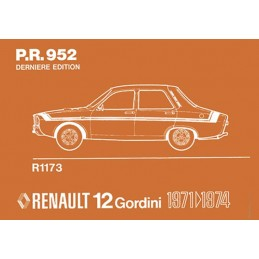 Catalogue de Pieces  R12 Gordini