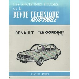 Revue Technique R 12 Gordini