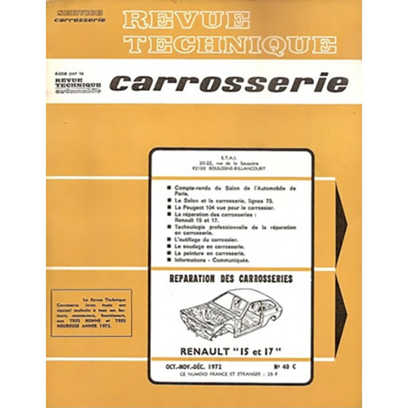 Revue Technique Carrosserie R 15
