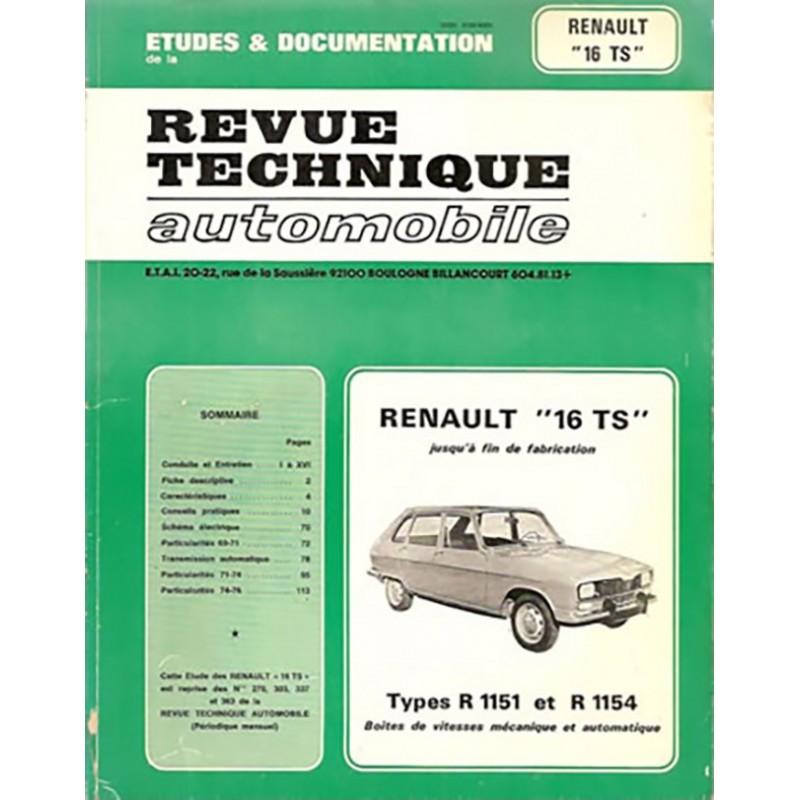 Revue Technique R 16 TS