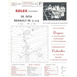 Fiche Technique Solex 35 DITA