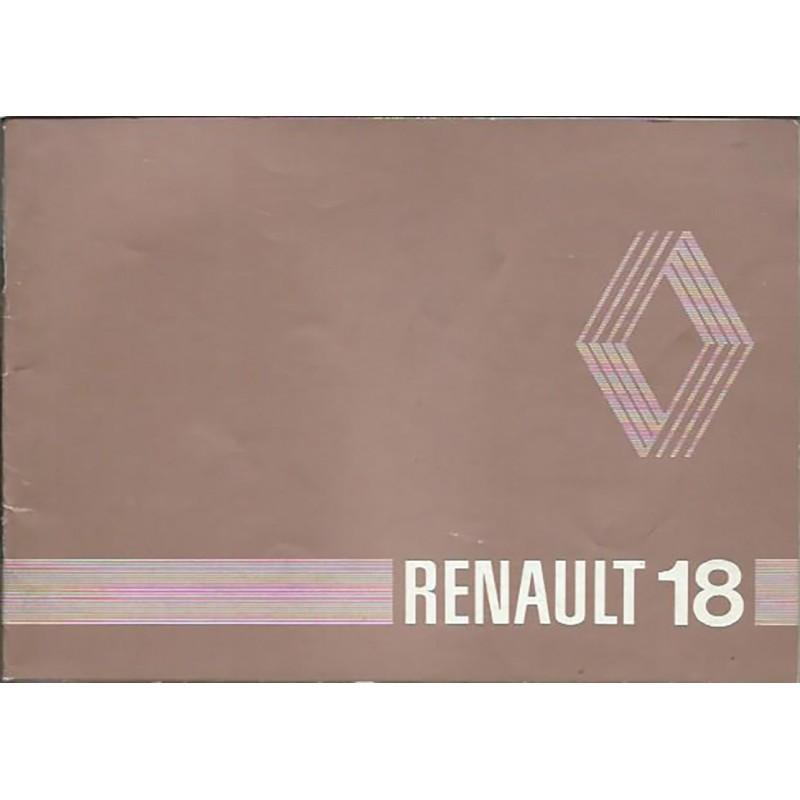 Notice d' Entretien 1980