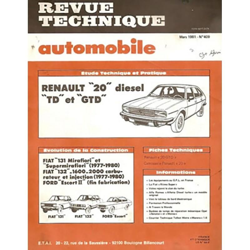 Revue Technique R 20 Diesel