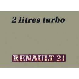 Notice d' Entretien  R21 Turbo