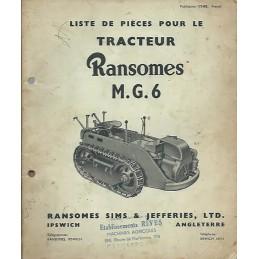Catalogue de Pieces MG6