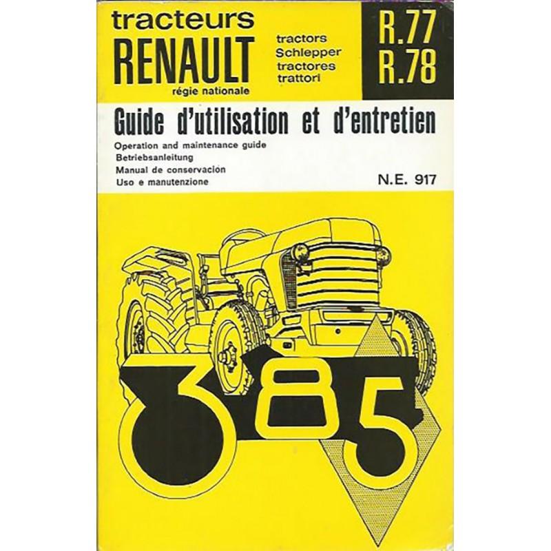 Notice Entretien R.77 / R.78