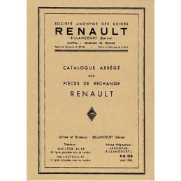 Catalogue de Pieces (1921 - 1934 )