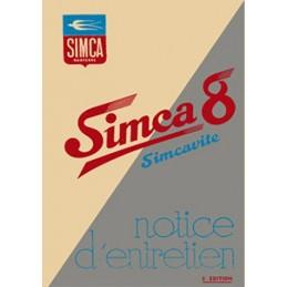 Notice d' Entretien Simca 8 1100