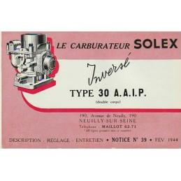 Carburateur Type 30 AAIP