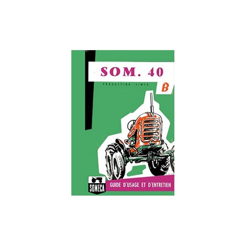Livret Entretien SOM 40B