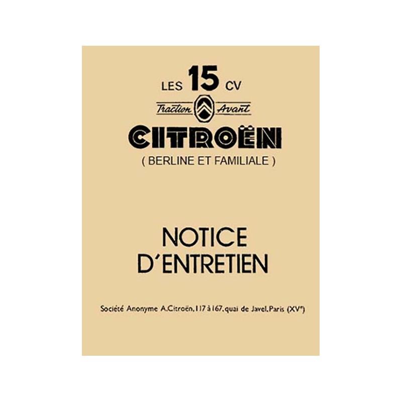 Notice Entretien 15/6  1954