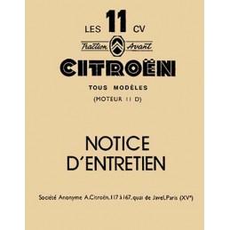 Notice Entretien 11D  1956