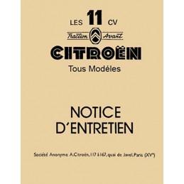 Notice Entretien 11  1955