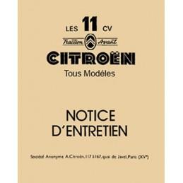 Notice Entretien 11  1954